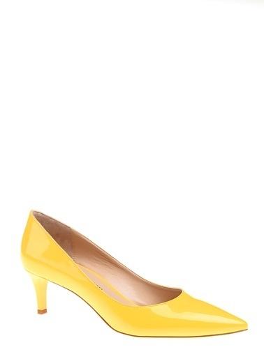 D by Divarese İnce Topuklu Sivri Burun Ayakkabı Sarı